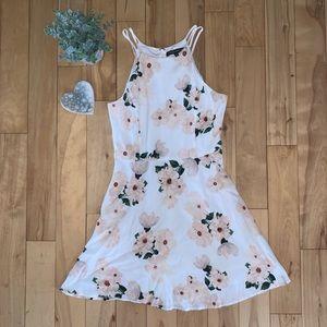 Dynamite Floral Halter Mini Dress